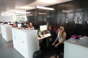 The Social Media & Communication Team: Lorenza Bernardi, Claudia Rossi and Ulyana Khoma.