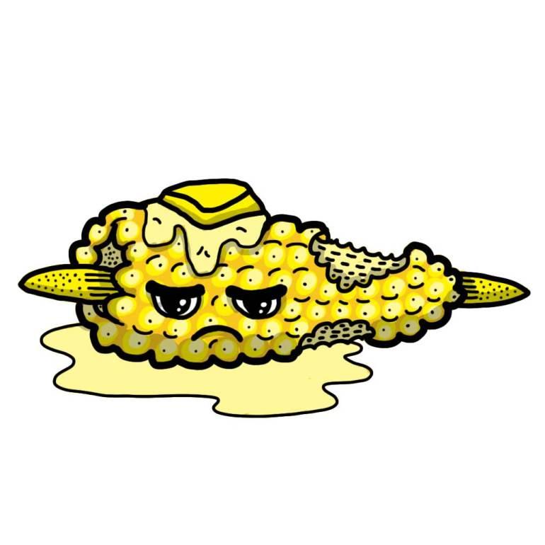 Food bite corn