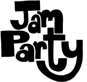 Jam Party Logo Concept Type Treatment