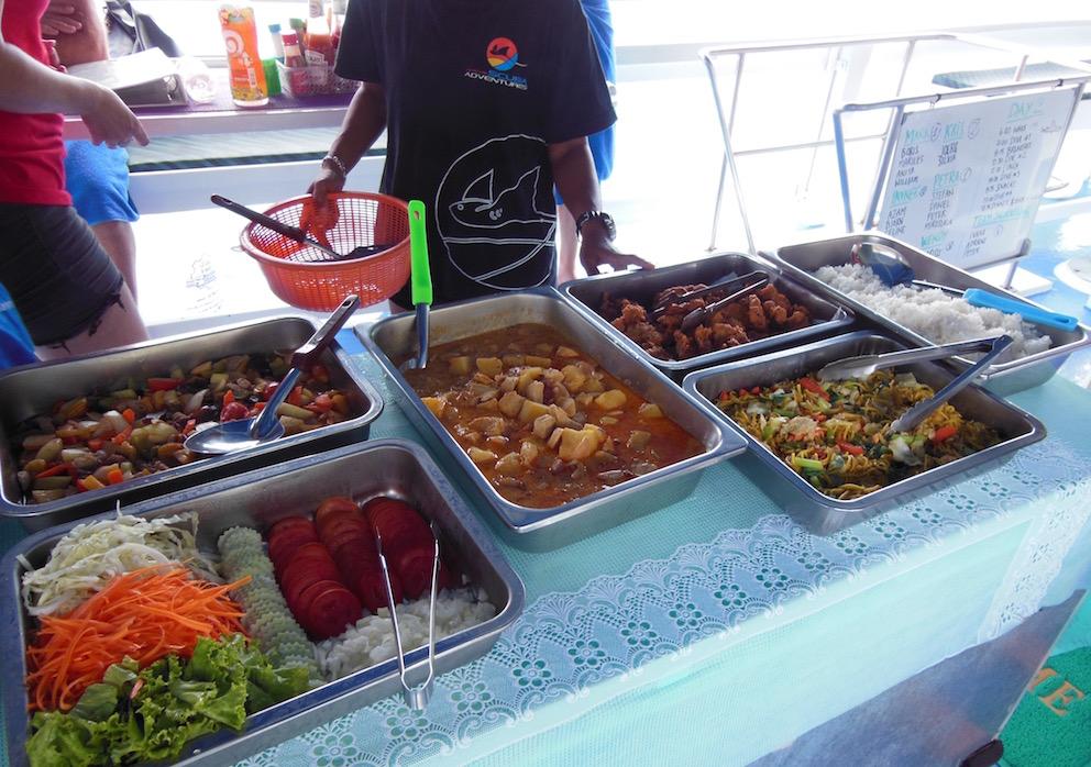 Scuba Diving Thailand Khao Lak Adventures Manta Queen 5 Food