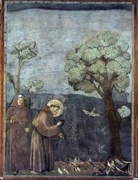 St. Francis feeds the birds