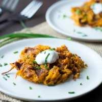 Curry Sweet Potato Hash Brown Waffles