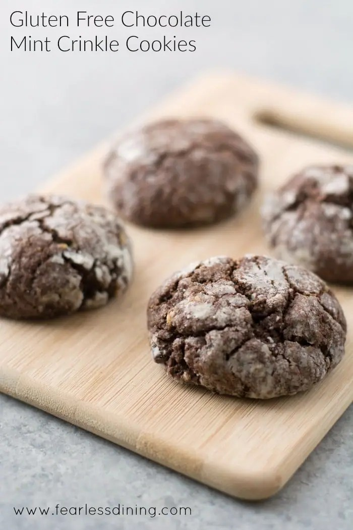 The Best Gluten Free Chocolate Crinkle Cookies