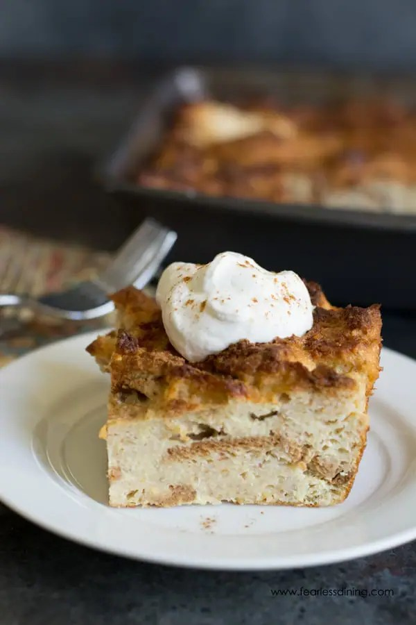 Holiday Gluten Free Eggnog Bread Pudding