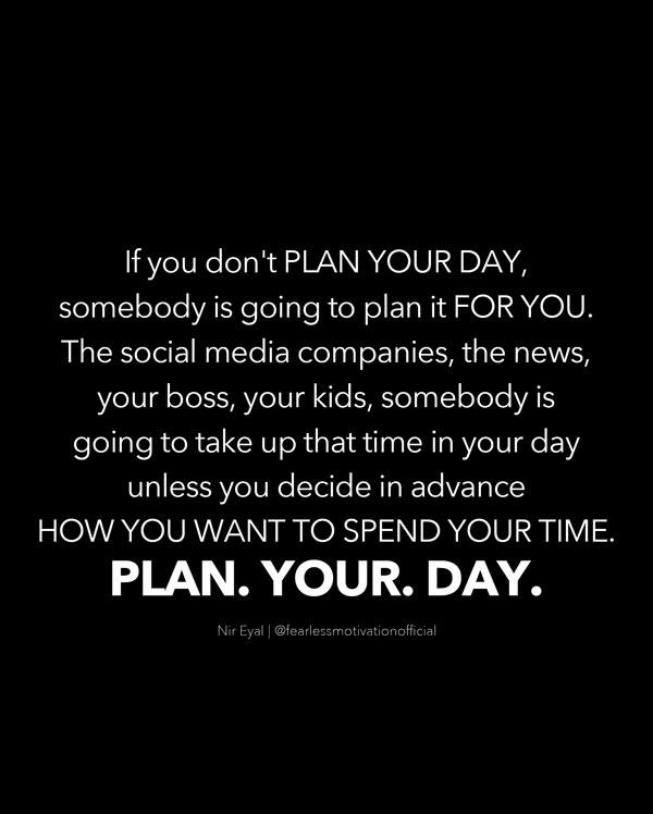 nir Eyal plan your day