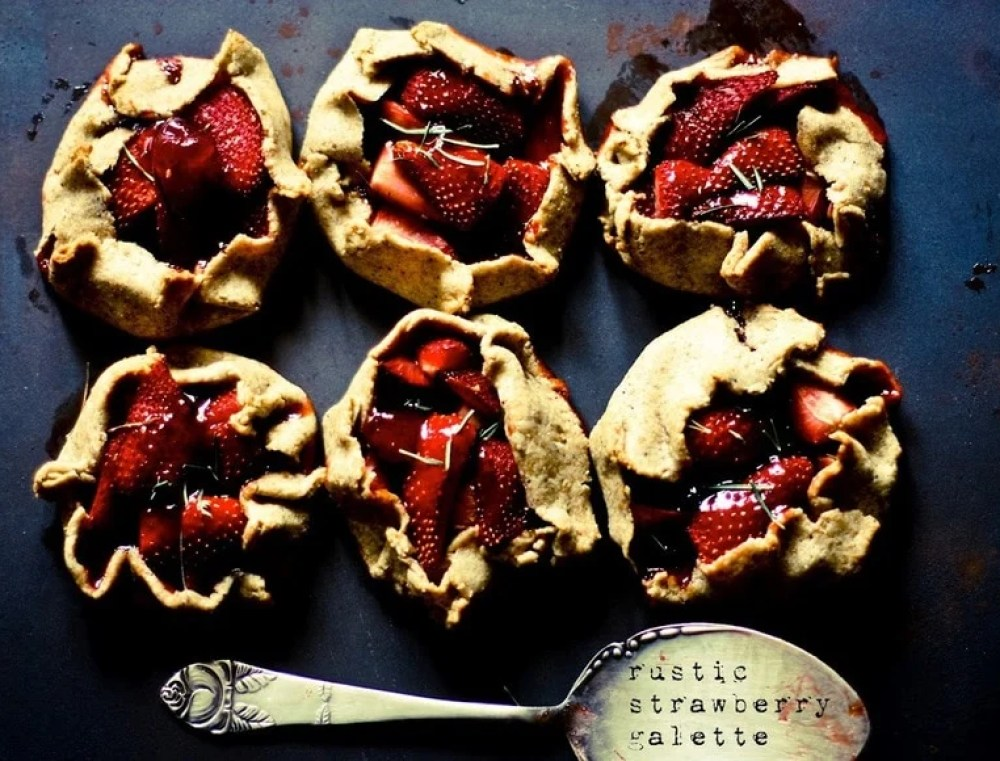 Rustic Strawberry Galette with Seeded Rye Crust