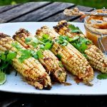 Grilled Corn with Chipotle, Lime and Cilantro | www.feastingathome.com