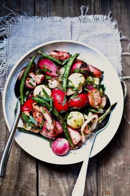 Grilled Radishes with Tarragon Vinaigrette