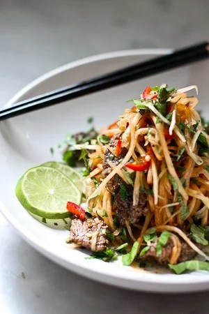 Vietnamese Beef and Green Papaya Salad