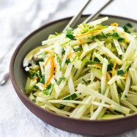 Kohlrabi Slaw with Cilantro, Jalapeño and Lime