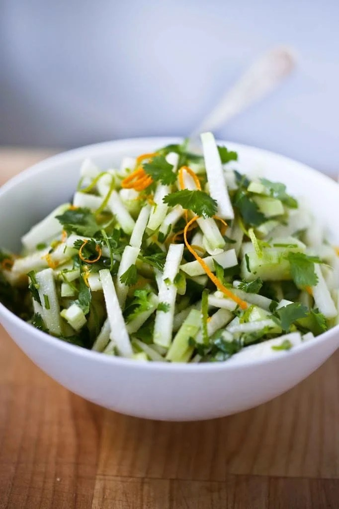 Kohlrabi Salad with Cilantro and Lime