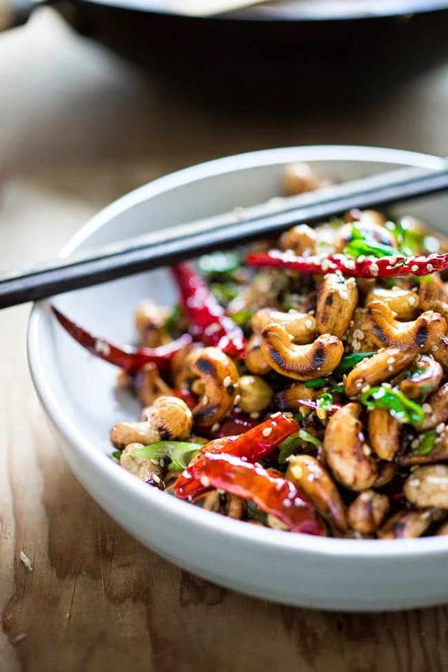 Wok-Seared Cashews with Scallions and Sesame