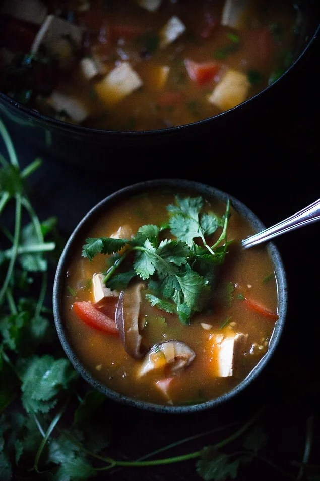 10 FEEL BETTER Brothy Soups to heal, comfort and help build immunity. Vietnamese Hot and Sour Tamarind Soup | www.feastingathome.com