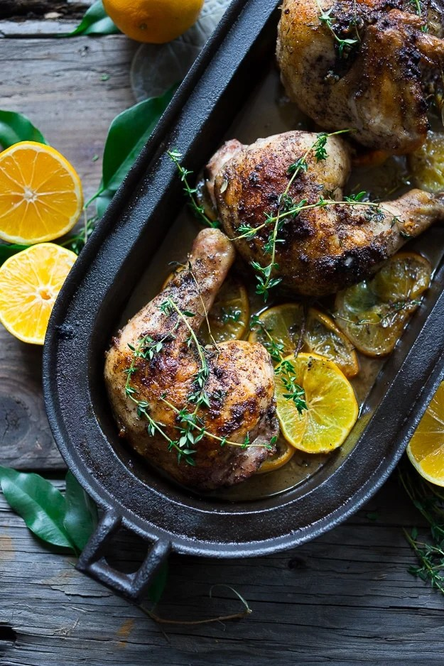 Roasted Chicken with Sumac and Meyer lemons