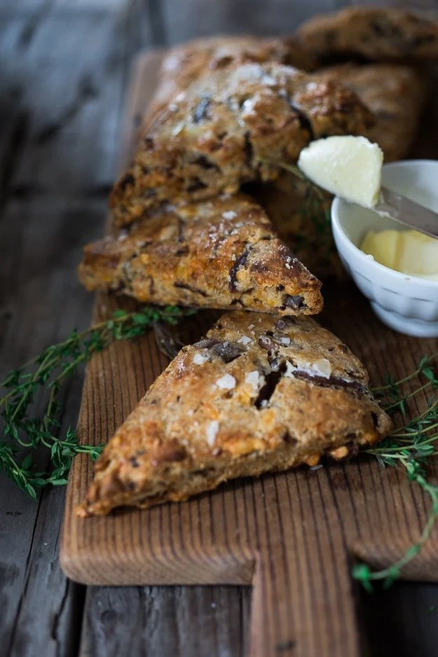 Savory Scones with Cheddar and Caramelized Onions