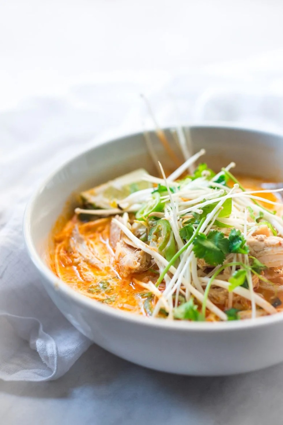 Laksa Soup + Plus 10 Warming SOUTH EAST ASIAN RECIPES to help take the chill out of winter | www.feastingathome.com