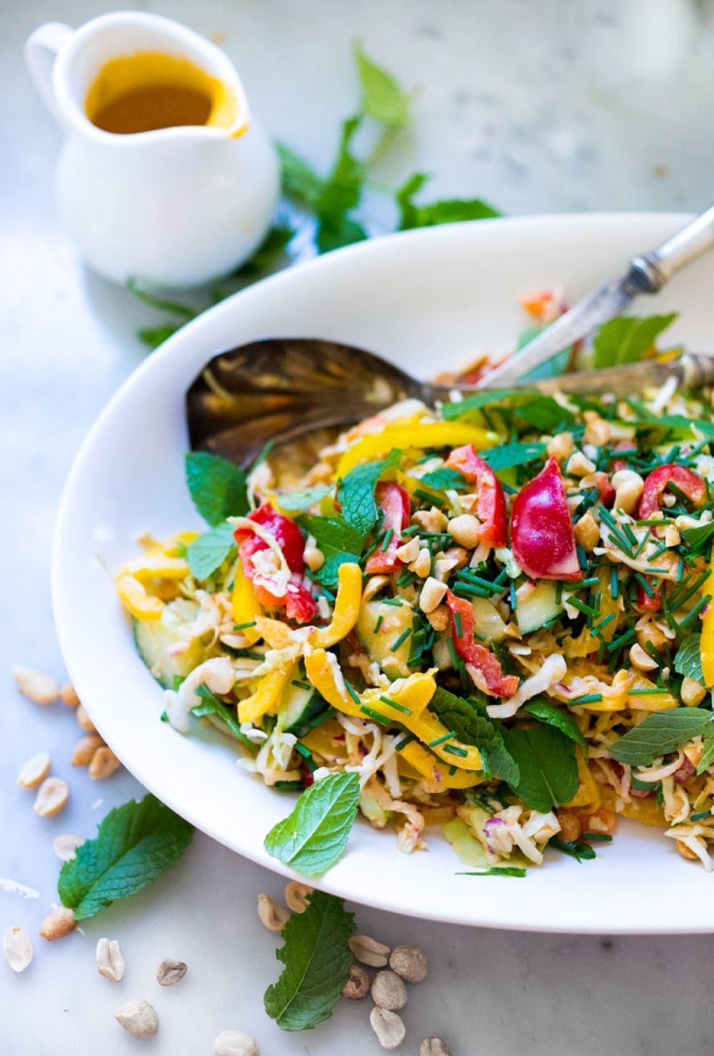 Thai Crunch Salad w/ Peanut Dressing