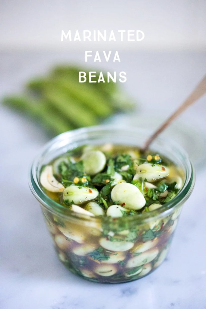 simple, flavorful recipe for Marinated Fava Beans with olive oil ...