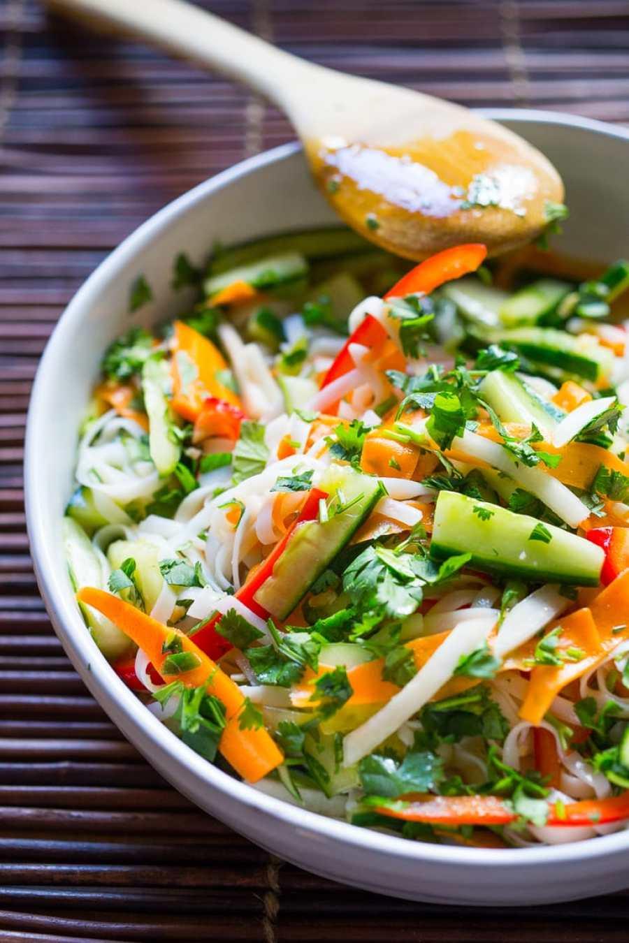 Vietnamese Rice Noodle Salad w/ Pickled Vegetables