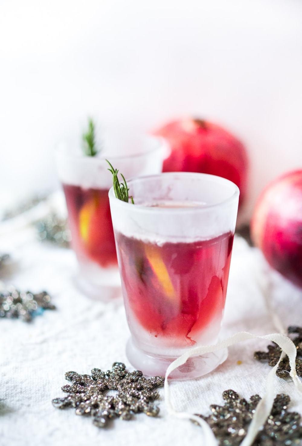 Pomegranate Drop with Rosemary