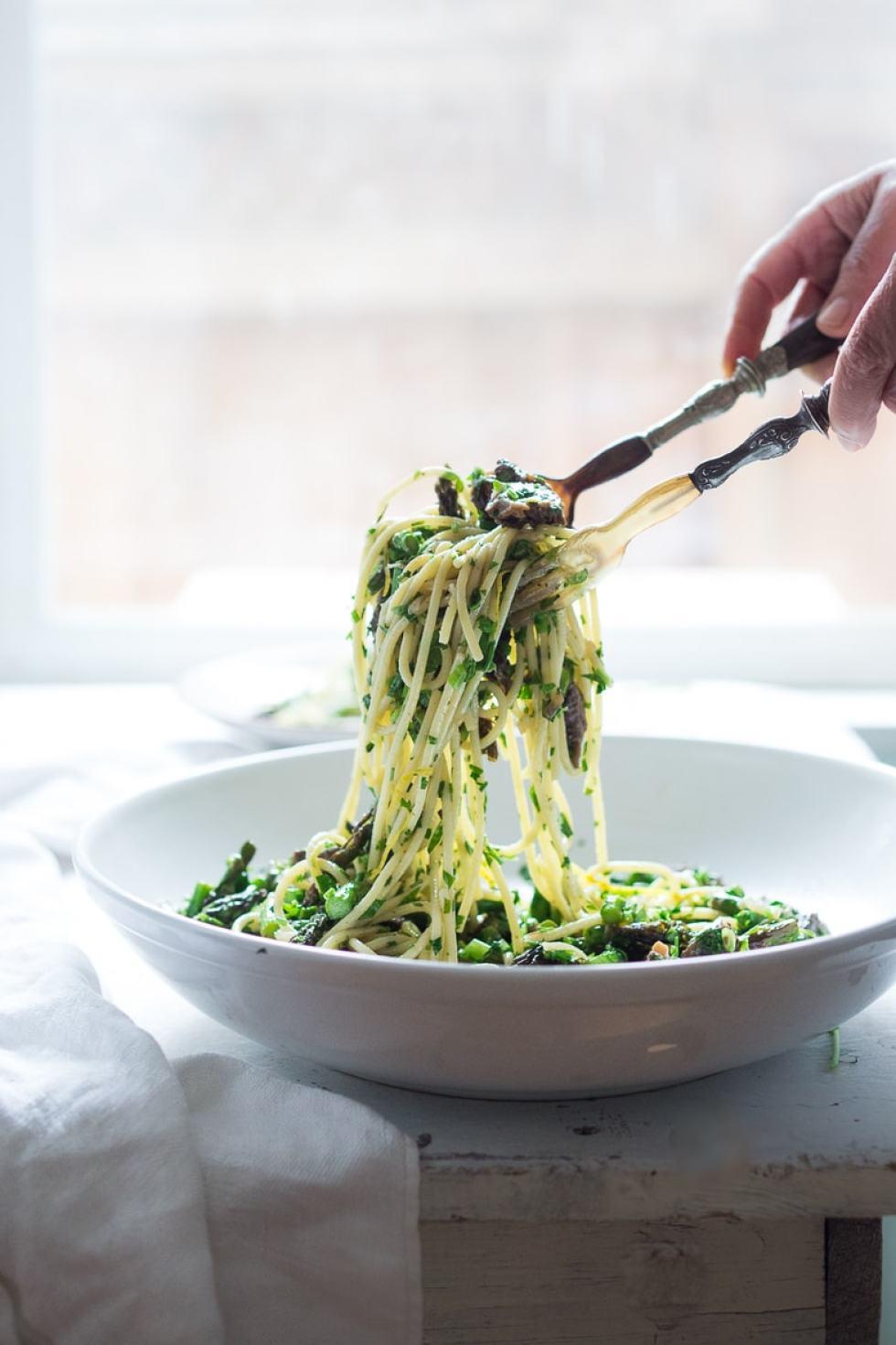 Pasta Salad with Asparagus, Mushrooms & Lemon Parsley ...