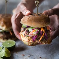 Thai Turkey Burgers w/ Asian Slaw
