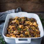 Wild Mushroom Fennel & Leek Stuffing- savory and flavorful, the perfect Thanksgiving side. | www.feastingathome.com