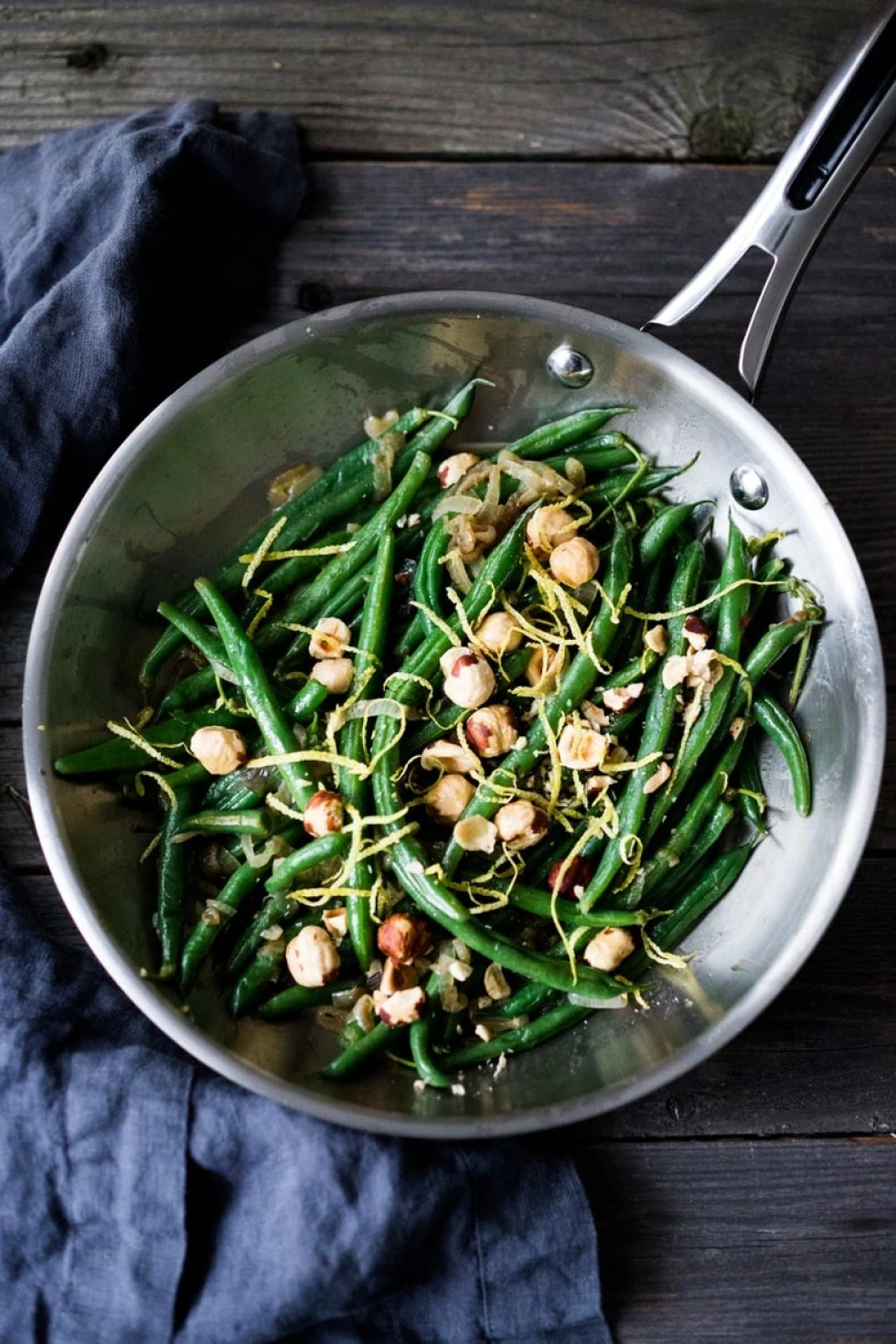 Hazelnut Green Beans with Lemon Zest and Truffle Oil - and easy, vegan, gluten free side dish that can be made in 15 minutes flat!   www.feastingathome.com
