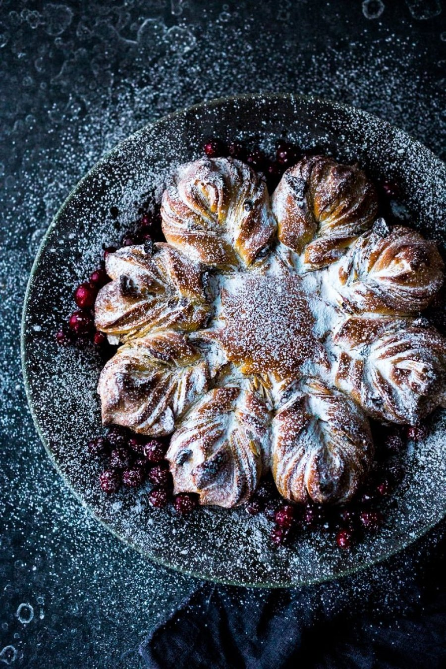 Cranberry Almond Star Bread with Einkorn