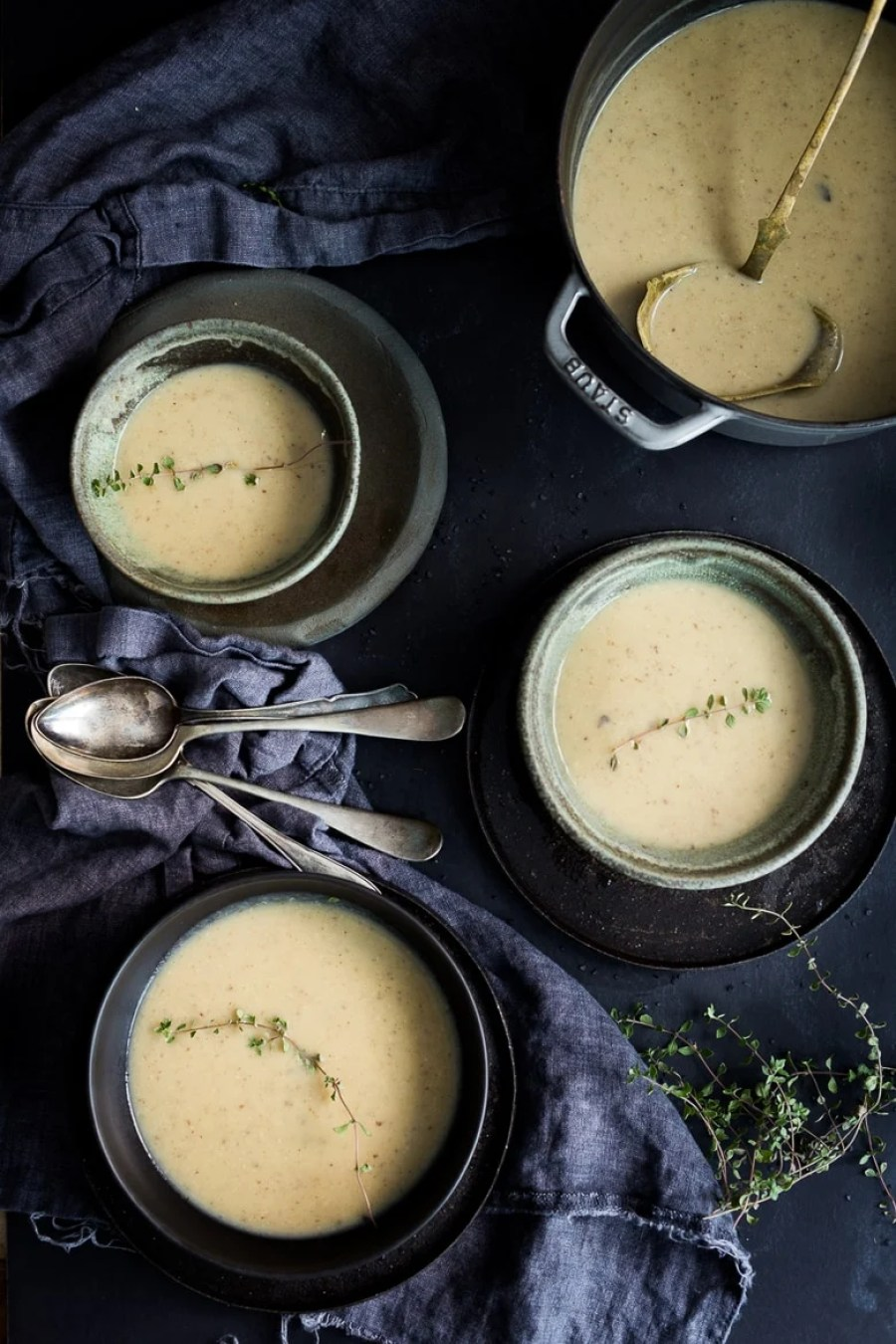 Wild Mushroom & Sunchoke Soup with Truffle oil ...vegan and gluten-free, yet luxurious and decadent. | www.feastingathome.com