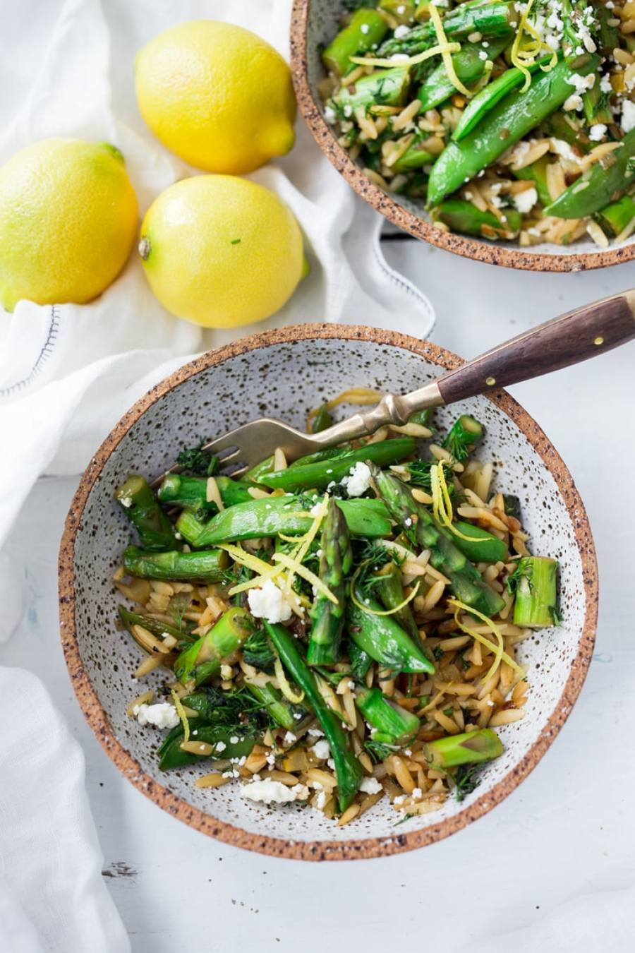 Spring Orzo with Asparagus, Lemon and Dill