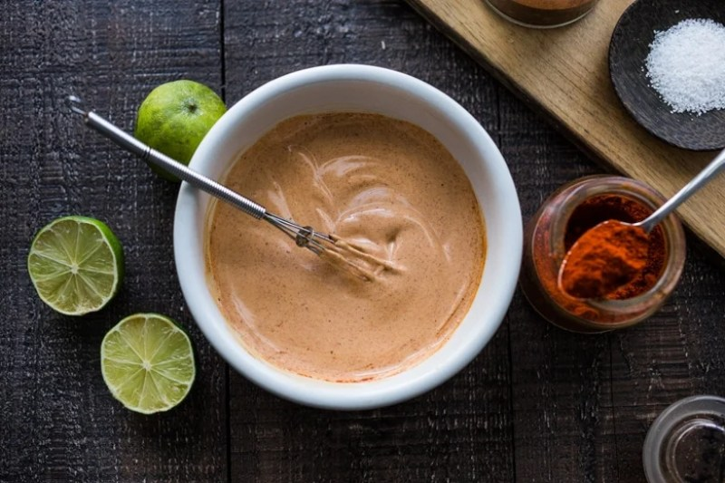 Chipotle Mayo- a mexican secret sauce that will give dishes a burst of flavor. Vegan adaptable, GF!