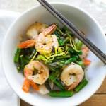 Lemon Basil Shrimp and Asparagus