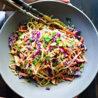 Thai Noodle Salad with the BEST EVER Peanut Sauce