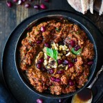 A simple, flavorful Middle Eastern-style, Roasted Red Pepper - Walnut Dip called Muhammara, with garlic, parsley and pomegranate molasses ( recipe below) , that can be made ahead in food processor. Serve with toasted pita or crackers.