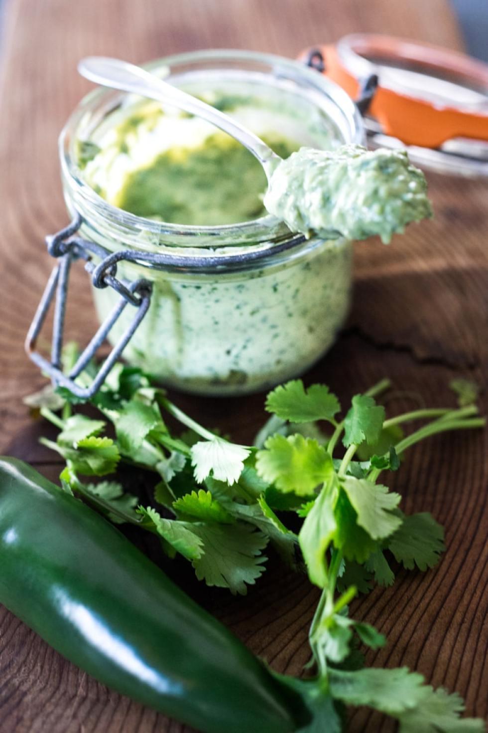 vegan cilantro cream