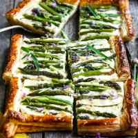Asparagus Tart with Chives, Tarragon and Gruyere