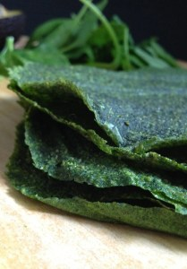 Dehydrator Spinach Wraps