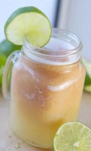 Papaya Lime Smoothie Float