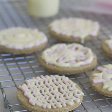 Buckwheat Sugar Cookies with Beet Dyed Frosting