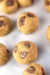 Chocolate Chunk Cookie Dough Bites • Oil-Free + Vegan