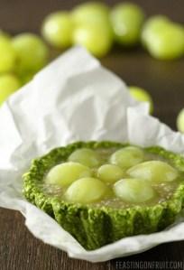 Green Grape Chia Tarts