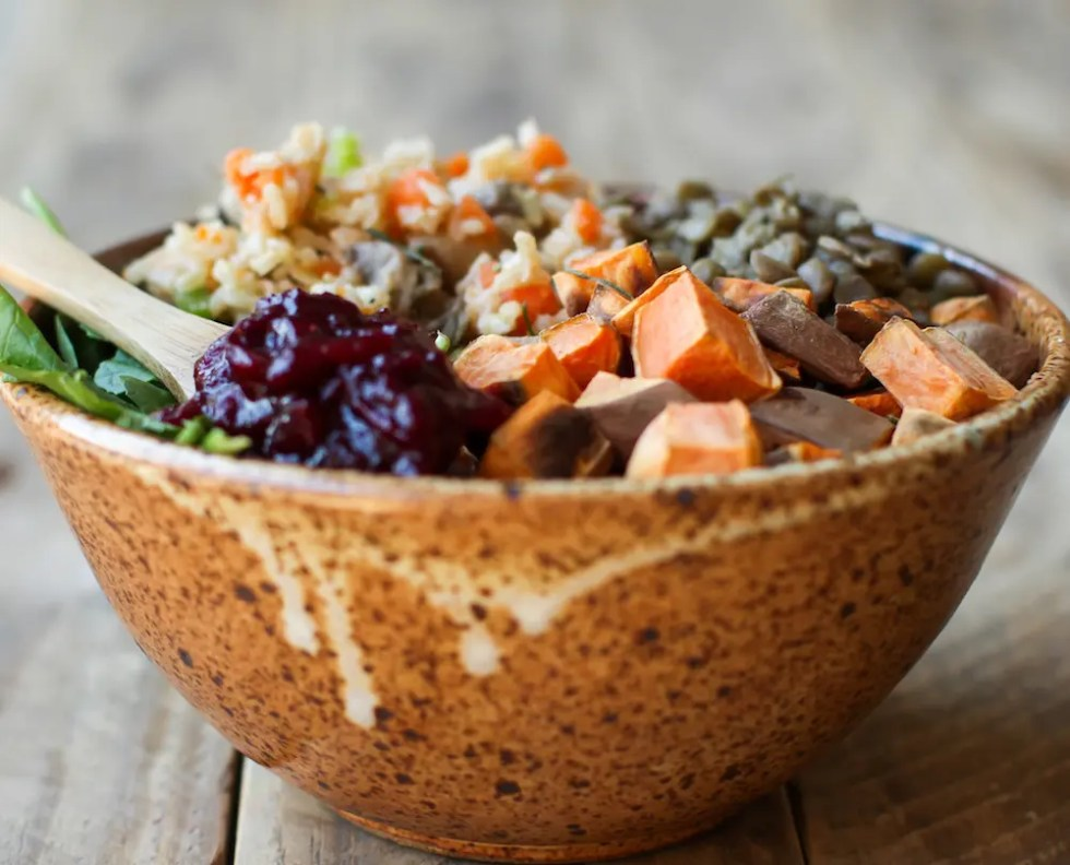 Vegan Thanksgiving Power Bowl - FeastingonFruit.com