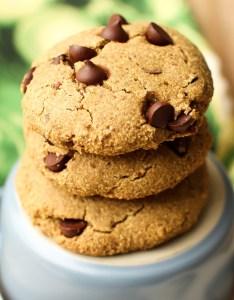 Vegan Oat Flour Chocolate Chip Cookies
