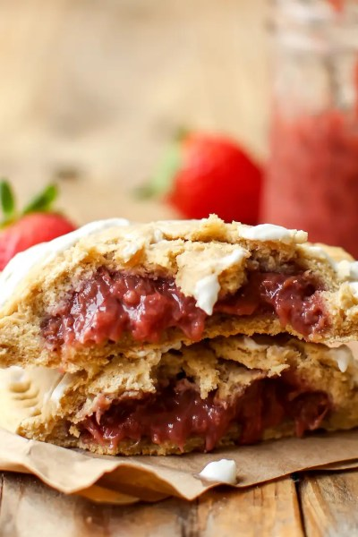 Strawberry Banana Pop Tarts (vegan + GF)