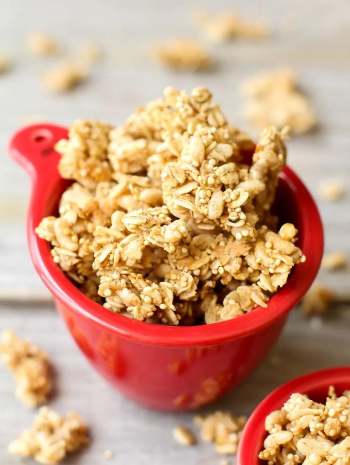 Easy Oil-Free Granola - Feasting on Fruit.com