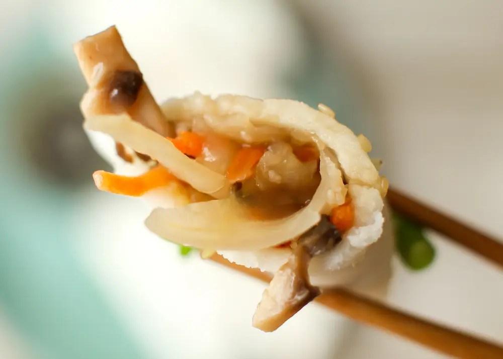 Vegan Dumplings with Easy Gluten-Free Wonton Wrappers (oil-free)
