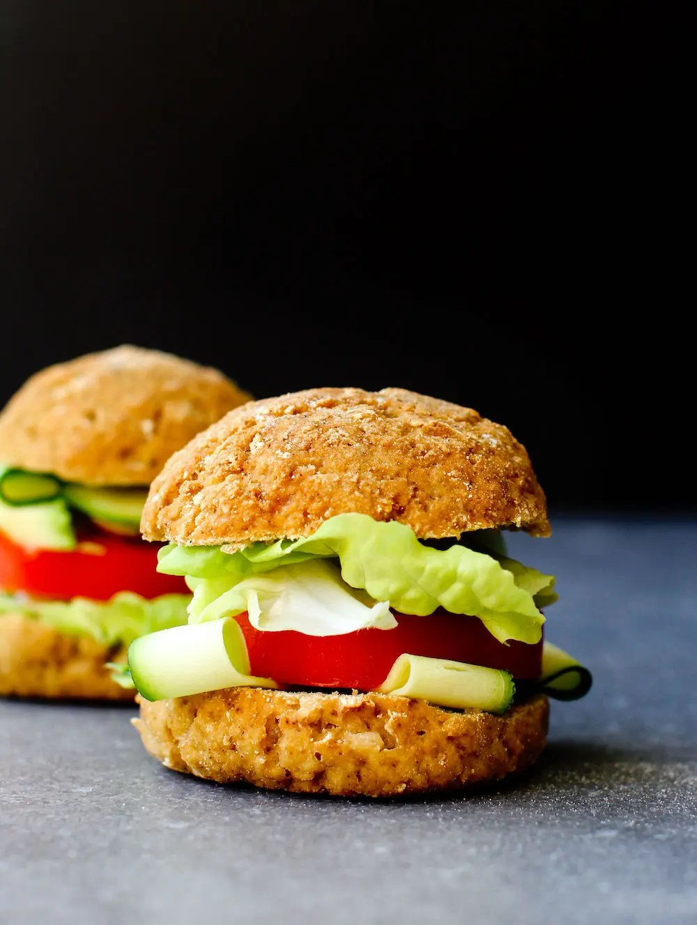 Vegan Gluten-Free Buns Recipe {oil-free}