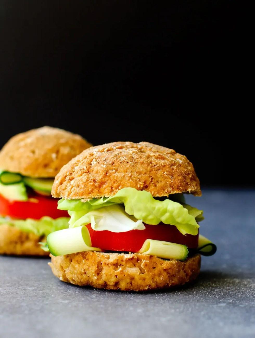 Vegan Gluten-Free Buns Recipe {oil-free}