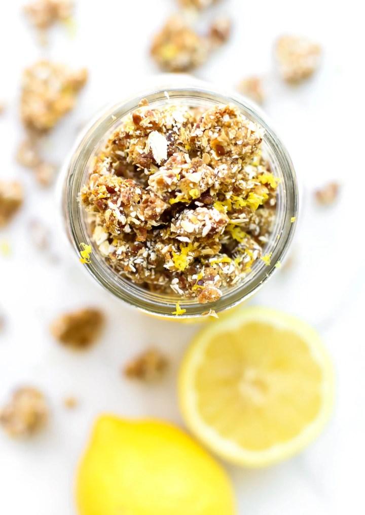 Lemon Vanilla Bean Rawnola | HCLF Vegan